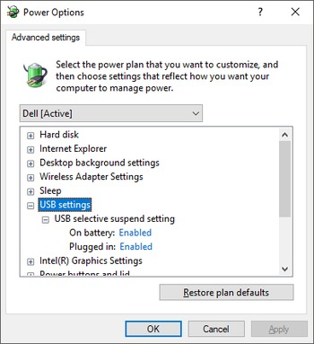 How to Disable USB Selective Suspend