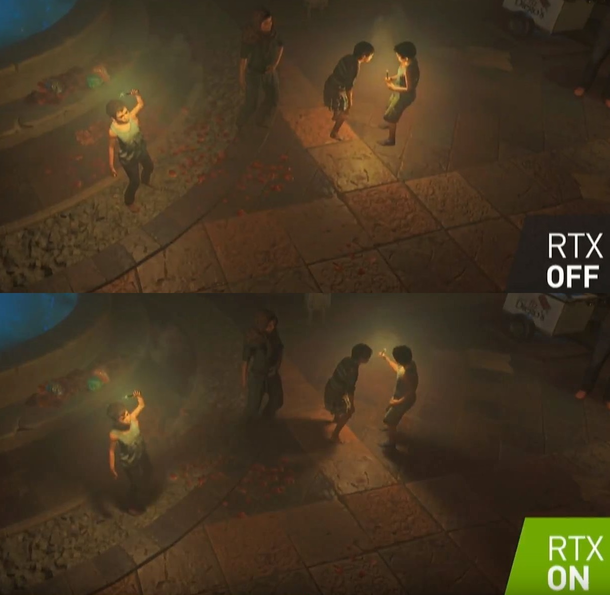 Improved Point Light Shadows in Shadow of the Tomb Raider Using NVIDIA RTX Technology