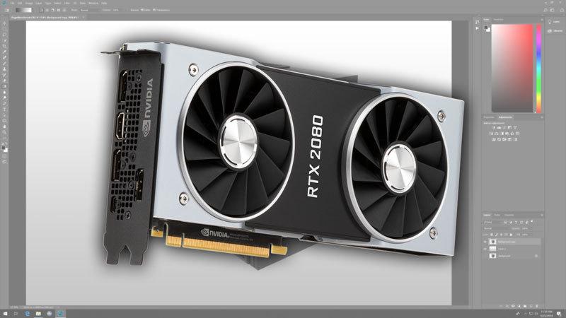 Photoshop CC 2018: NVIDIA GeForce RTX 2080 & 2080 Ti Performance