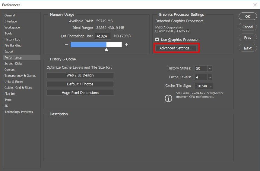 How to enable 30 bit in Photoshop