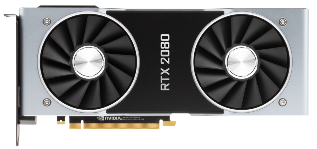 NVIDIA GeForce RTX 2080 Founders Edition with Dual Cooling Fans