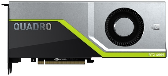 NVIDIA Quadro RTX 6000 with Single Cooling Fan
