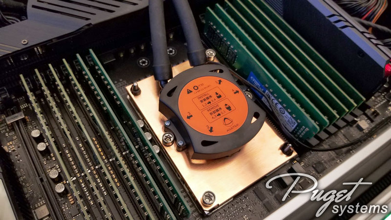Intel Xeon W-3175X in Asus ROG Dominus Extreme with Asetek 690LX-PN Liquid Cooler