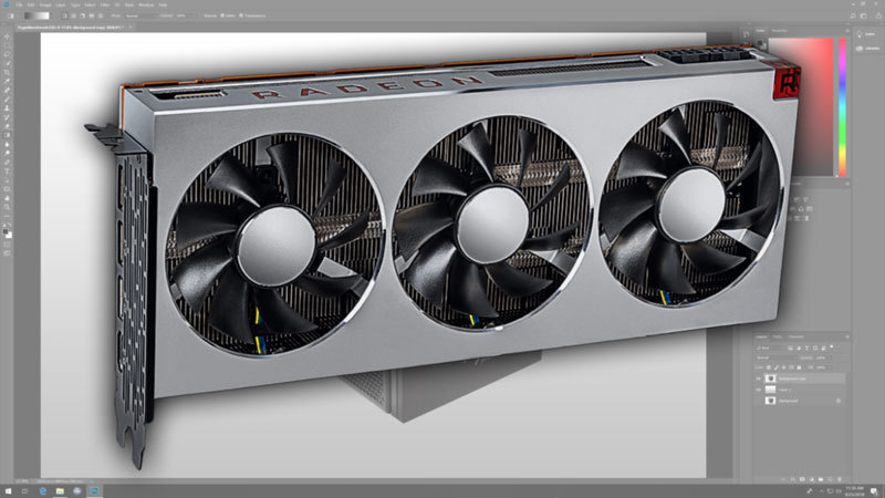 AMD Radeon VII Photoshop