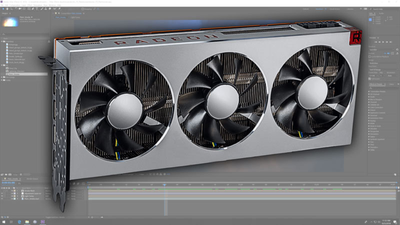 AMD Radeon VII After Effects