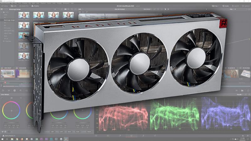 AMD Radeon VII DaVinci Resolve