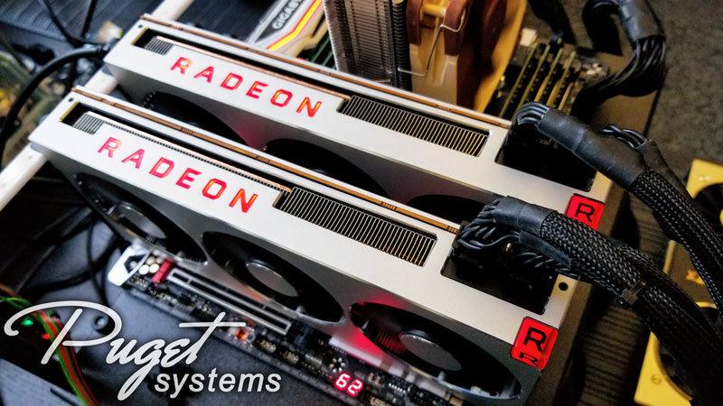 Dual AMD Radeon VII 16GB Multi GPU