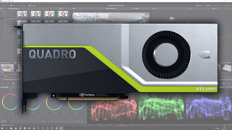 DaVinci Resolve 15: NVIDIA Quadro RTX Performance