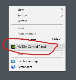 nvidia control panel 1