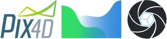 Pix4D, Agisoft Metashape, and RealityCapture logos