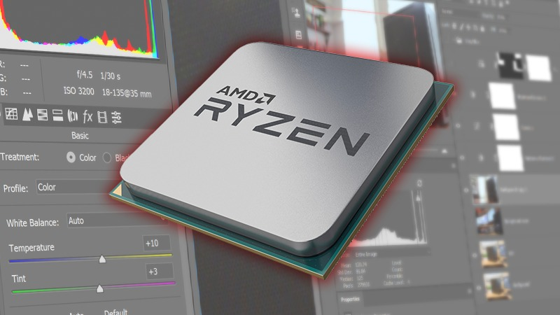 AMD Ryzen 3rd Gen Photoshop Performance