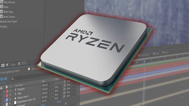 AMD Ryzen 3rd Gen After Effects Performance