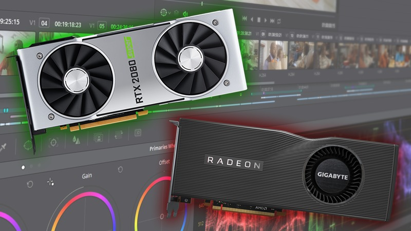 NVIDIA GeForce SUPER vs AMD Radeon RX 5700 XT in DaVinci Resolve