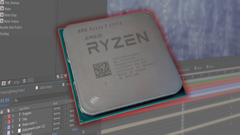 AMD Ryzen 9 3950X CPU for After Effects
