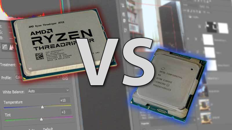 Intel Core X-series vs AMD Threadripper 3rd Gen Photoshop Review