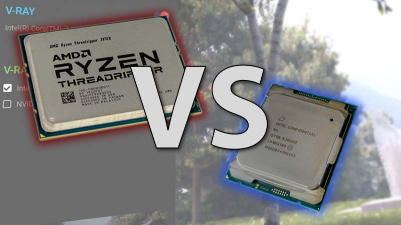 Intel Core X-1000 series vs AMD Threadripper 3rd Gen in V-Ray Next Benchmark
