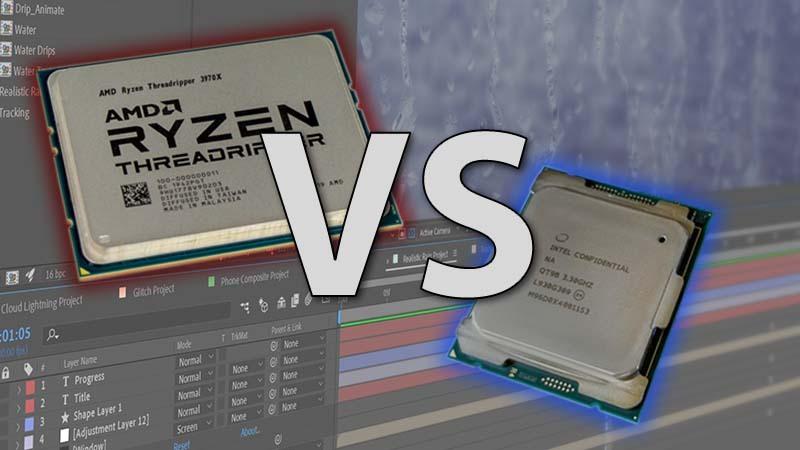 Intel Core X-series vs AMD Threadripper 3rd Gen After Effects Review