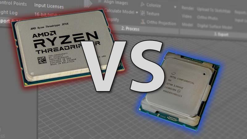 Intel Core X-1000 series vs AMD Threadripper 3rd Gen in RealityCapture