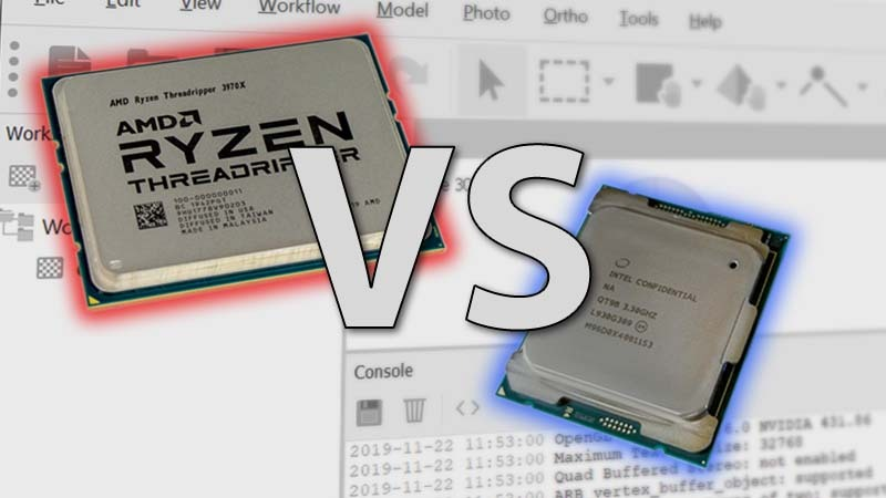 Intel Core X-1000 series vs AMD Threadripper 3rd Gen in Metashape