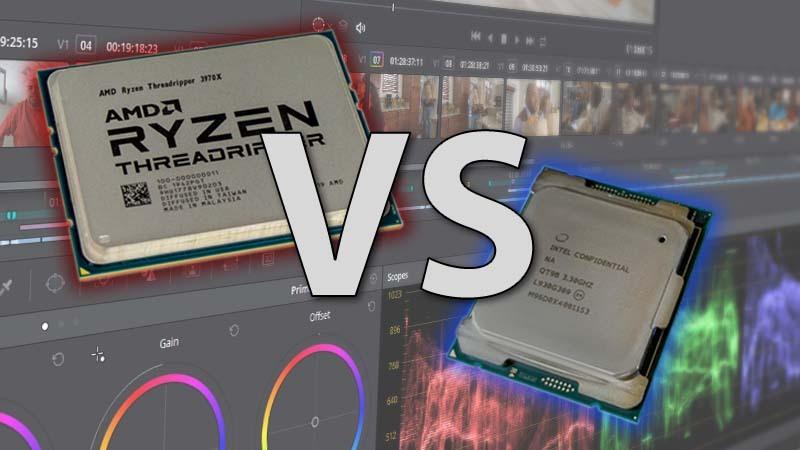 Intel Core X-series vs AMD Threadripper 3rd Gen DaVinci Resolve Review