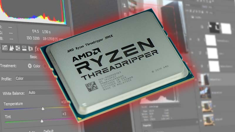 AMD Threadripper 3990X 64 Core Photoshop Review