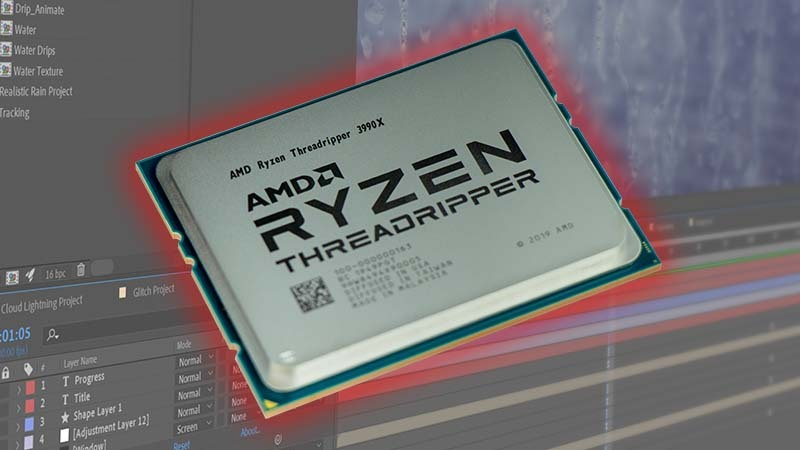 AMD Threadripper 3990X 64 Core After Effects Review