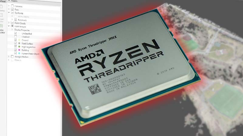AMD Threadripper 3990X Tested on Windows 10 Pro for Workstations in Photogrammetry