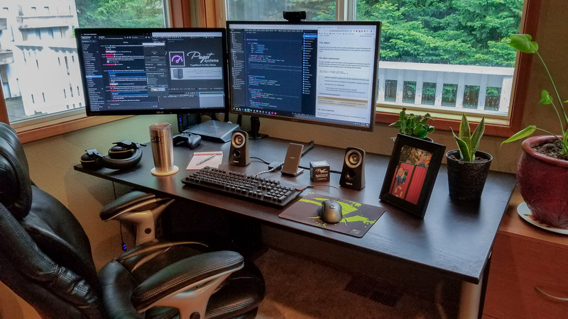 Matt Bach's home office desk setup