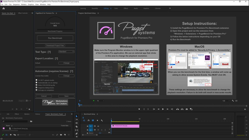 PugetBench for Premiere Pro