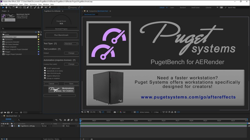 PugetBench for AERender