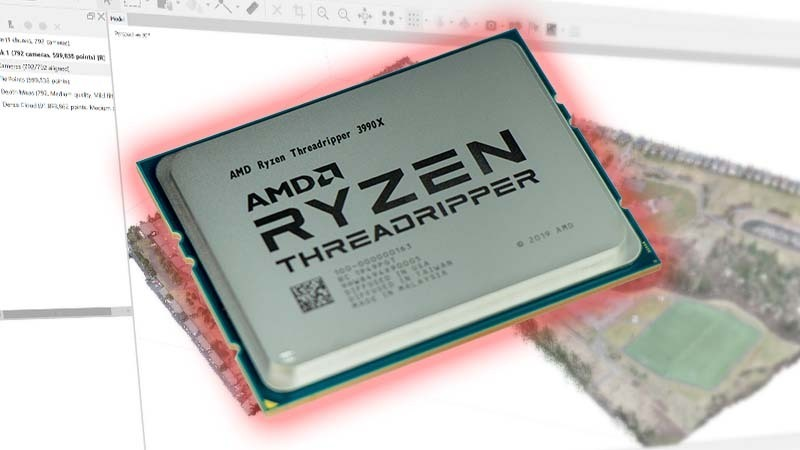 AMD Threadripper 3990X Running Agisoft Metashape