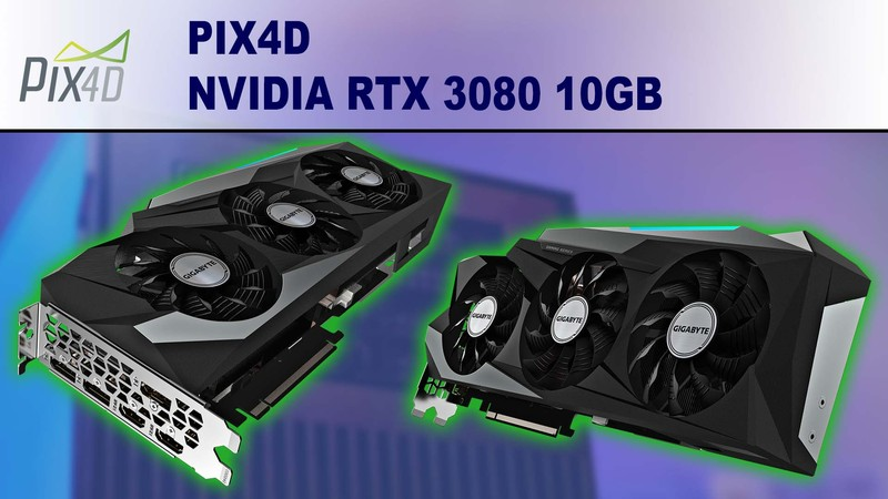 Pix4D Photogrammetry Performance Review for NVIDIA GeForce RTX 3080 10GB