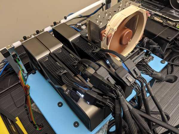 Triple NVIDIA GeForce RTX 3080 10GB on test bed