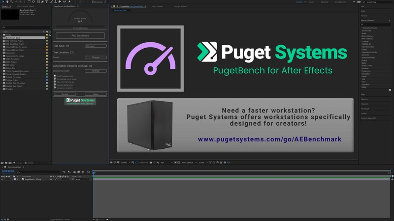 PugetBench for After Effects