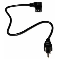 Computer Right Angle Power Cord (6ft, Black)