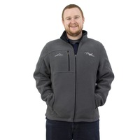 Puget Mens Grey Fleece Zip-up (large)