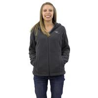 Puget Womens Grey Fleece Zip-up (medium)