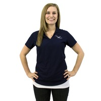 Puget Womens Navy Polo (large)